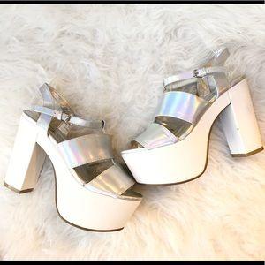 113afcdea93 Women s Holographic Platform Shoes on Poshmark